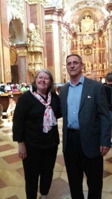 Linda Crawford and Bernard Leury - Melk Abbey